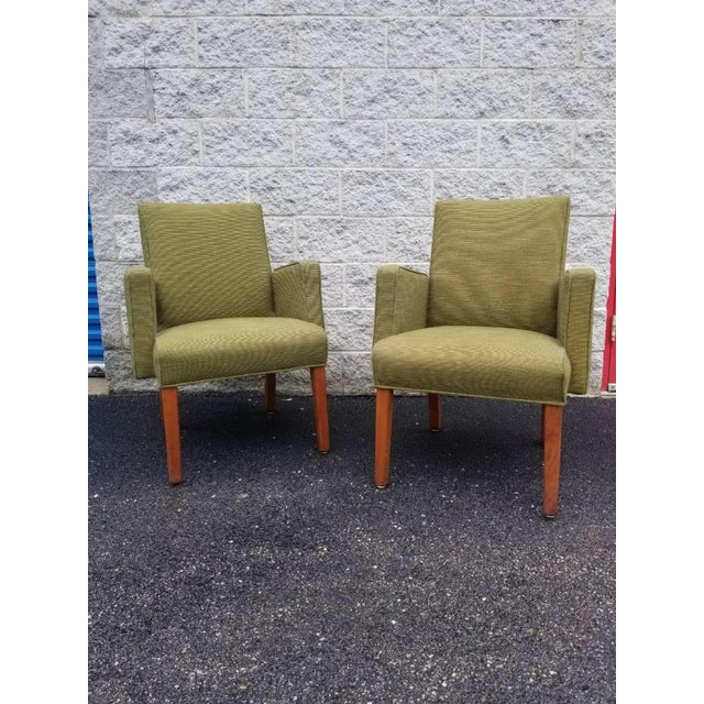 Mid Century Modern Green Lounge Chairs by Milwaukee Chair Company - Pair For Sale - Image 9 of 9