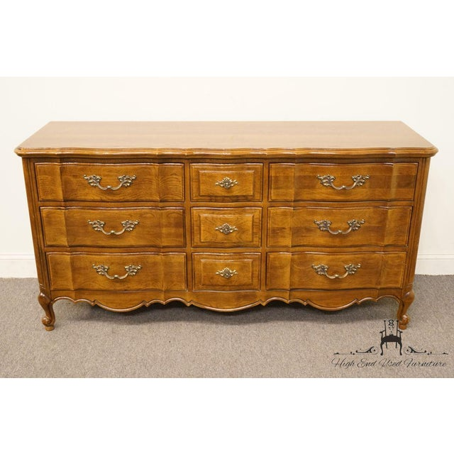 Country Late 20th Century Vintage Thomasville Furniture Tableau Collection  Triple Dresser For Sale - Image 3 - Late 20th Century Vintage Thomasville Furniture Tableau Collection