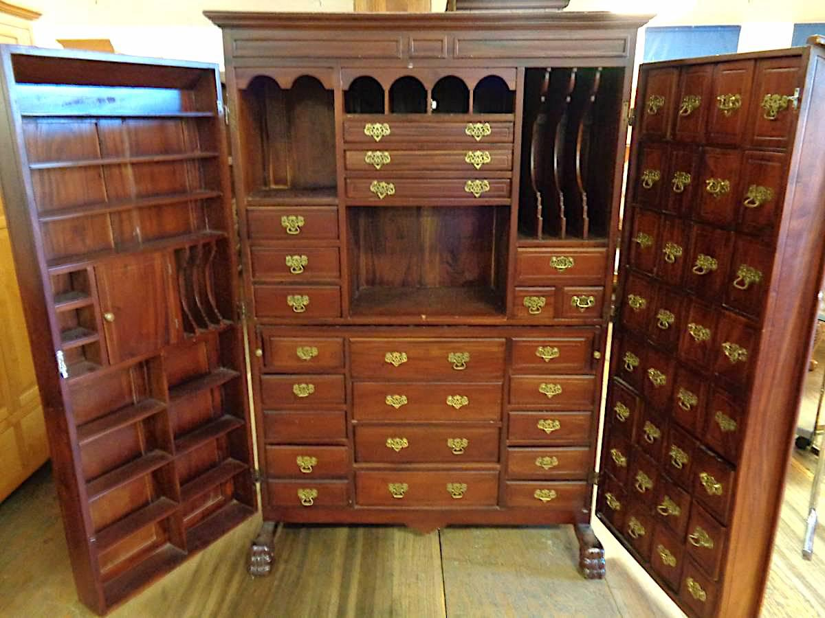 20th Century Large Jewelry Cabinet Armoire Chairish