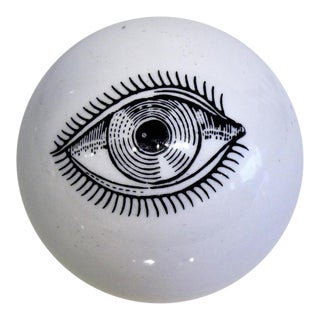 Surrealist Piero Fornasetti Ceramic Eyeball Paperweight, Italy, 1960s