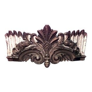 Carousel Style Carved and Painted Valance For Sale