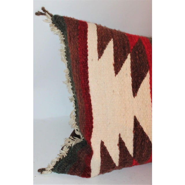 Red Navajo Indian Saddle Blanket Pillows - Set of 3 For Sale - Image 8 of 11