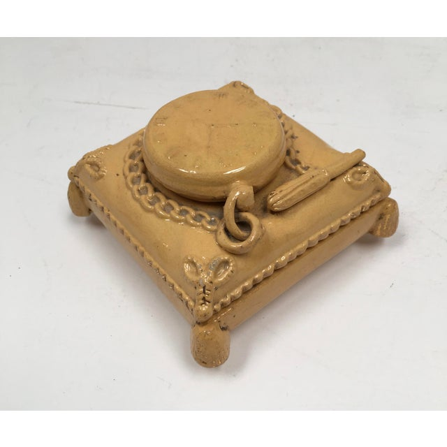 Antique Yellow Ware Match Striker - Image 2 of 10