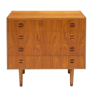 1950s Danish Mid-Century Modern Teak Chest For Sale