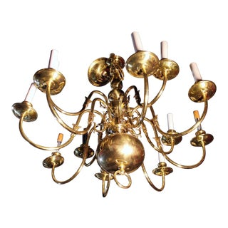 Colonial Williamsburg Brass Chandelier For Sale
