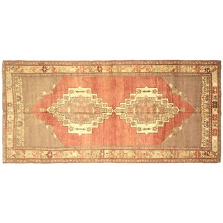 "1960s Turkish Oushak Rug - 5'2"" X 11'4"" For Sale"