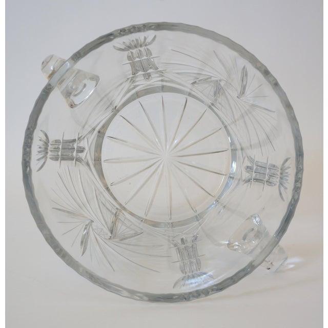 Transparent Vintage Ice Bucket Lead Crystal Pressed Design For Sale - Image 8 of 13