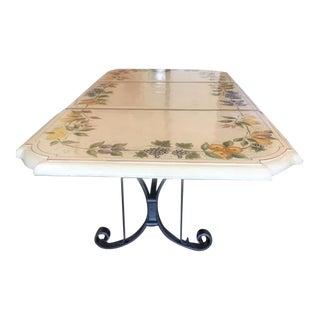Italian Ceccarelli Ceramic Dining Table For Sale
