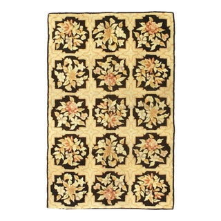 Antique American Hooked Rug For Sale
