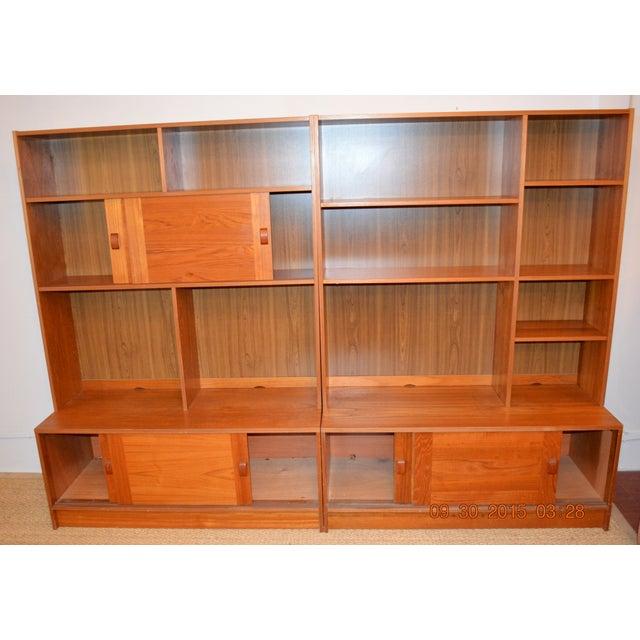 2-Piece Danish Modern Bookcase - Image 4 of 10