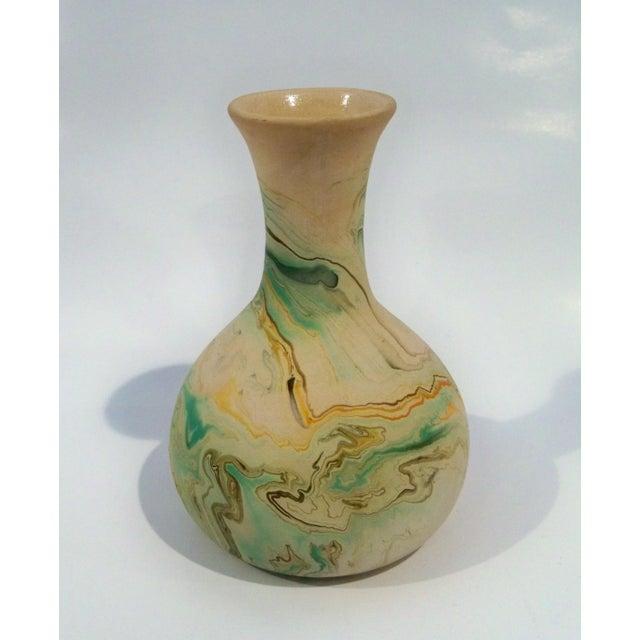 Traditional Vintage Roadside Nemadji Pottery in Orange & Green - Set of 4 For Sale - Image 3 of 8