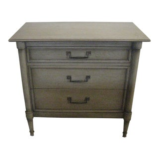 1950s British Colonial Drexel Sirocco Nightstand Dresser For Sale