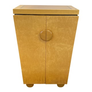 Griffin W. Okie Custom Birdseye Maple Media Cabinet For Sale