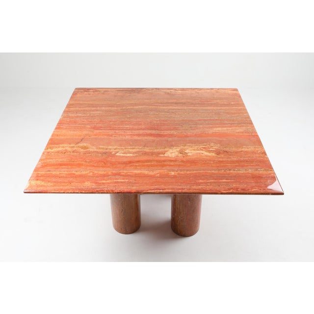 Mario Bellini's Red Travertine 'Il Collonato' Dining Table For Sale - Image 6 of 11