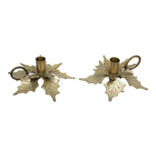 Pair of Vintage Holiday Candle-Holders For Sale