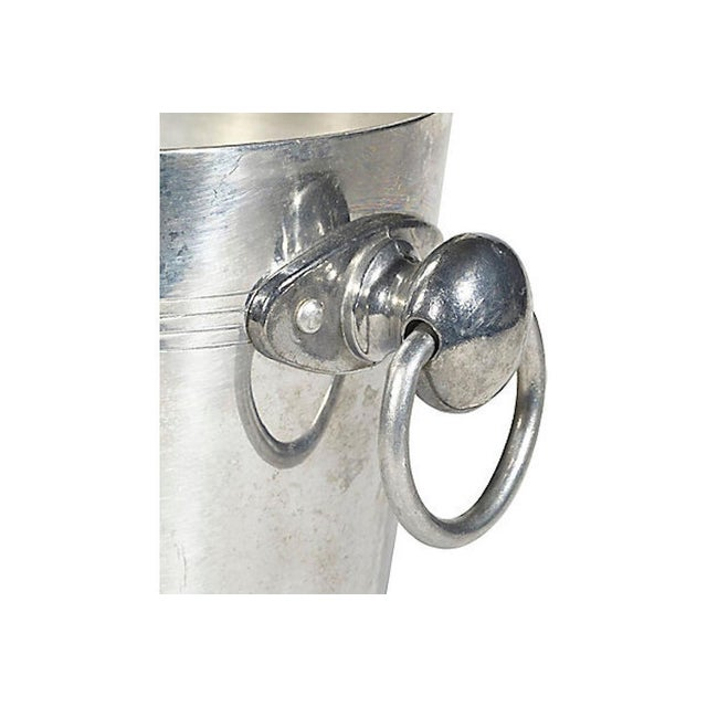 Metal French Champagne Ice Bucket W/ Handles For Sale - Image 7 of 8