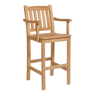 Oasis Teak Outdoor Bar Armchair For Sale