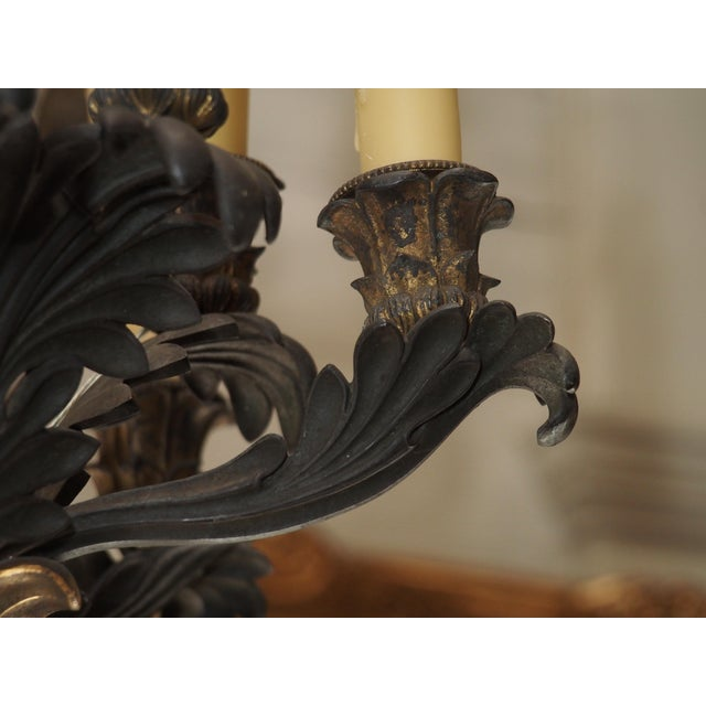 19th Century French Bronze Empire Chandelier - Image 6 of 9
