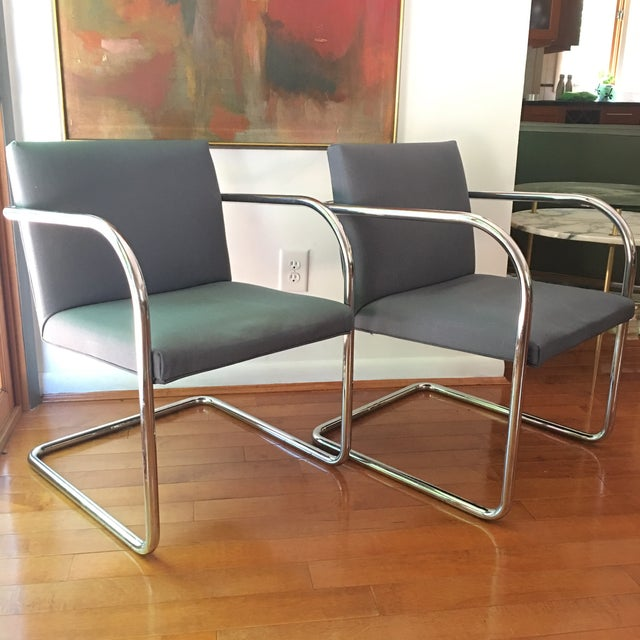 Mies Van Der Rohe for Thonet Brno Chairs - a Pair For Sale - Image 13 of 13