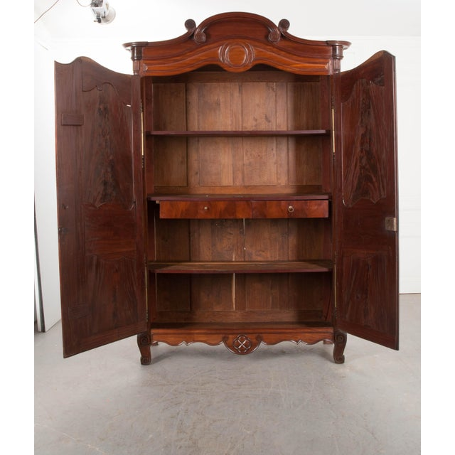 French 18th Century French Mahogany Armoire from the Port of Normandy For Sale - Image 3 of 13