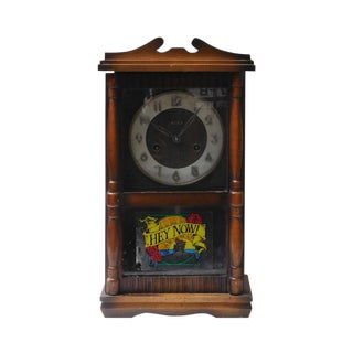 Vintage Old Shanghai European Building Style Pendulum Swing Clock For Sale