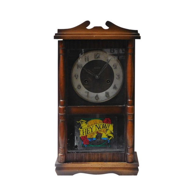 Vintage Old Shanghai European Building Style Pendulum Swing Clock For Sale