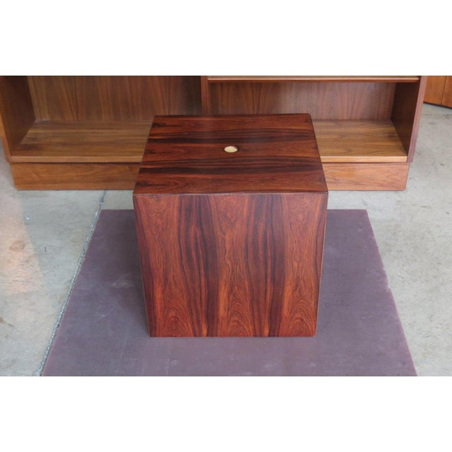 Vintage mid-century modern rare rosewood nesting table set by Poul Nørreklit for GP Farum, Danish, circa 1960. Made in...