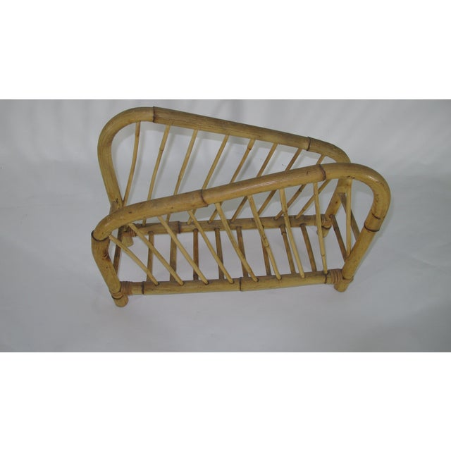 1960s 1960's Bamboo Magazine Rack For Sale - Image 5 of 6