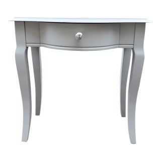 1970s French Gray Side Table Bedside Table For Sale