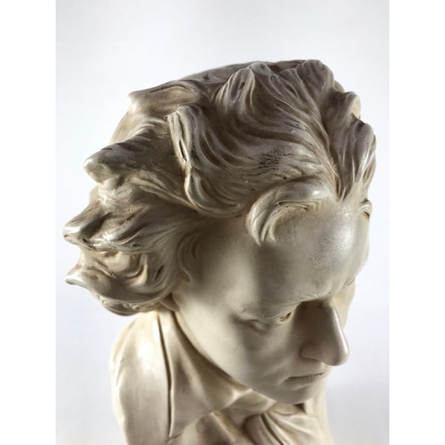 20th Century Contemporary Alexander Backer Co Ivory Colored Beethoven Bust For Sale - Image 10 of 11