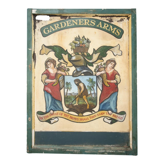 """English """"Gardeners Arms"""" Pub Sign - Image 1 of 7"""