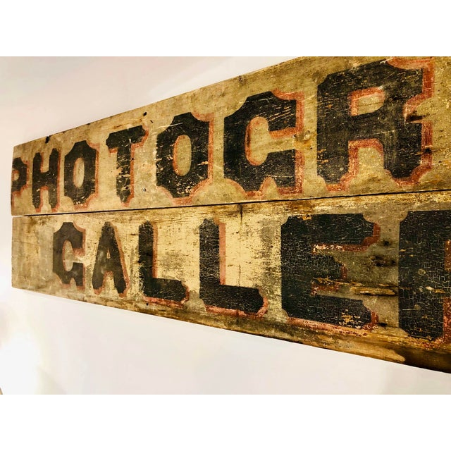 Tan Late 1800s Photography Trade Sign For Sale - Image 8 of 10
