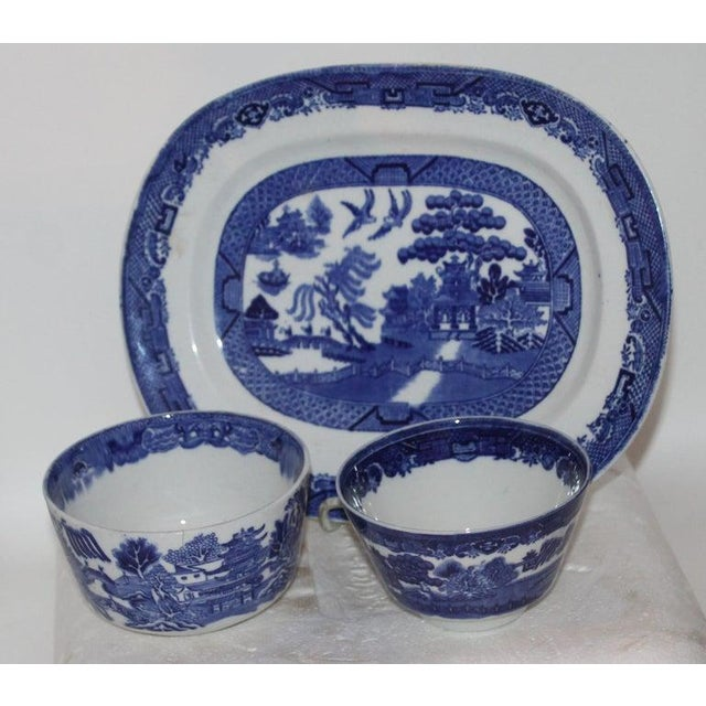 19th Century 19th-20th Century Blue Willow Collection, 9 Pcs For Sale - Image 5 of 10