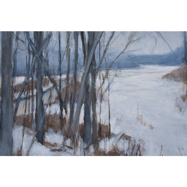 "Contemporary ""River, Road, Field, Mountain"" Contemporary Landscape Painting by Stephen Remick For Sale - Image 3 of 10"