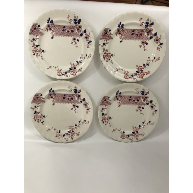 Imari Style Chinoiserie Dinner Plates - Set of 4 For Sale - Image 11 of 11