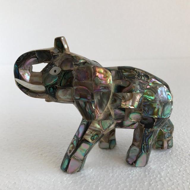 Vintage Abalone Shell Inlay Elephant Figure - Image 10 of 11