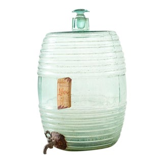 Antique Glass Cooler For Sale
