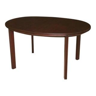 Paul Frankl for Johnson Furniture Streamline Moderne 3-Leaves Oval Dining Table