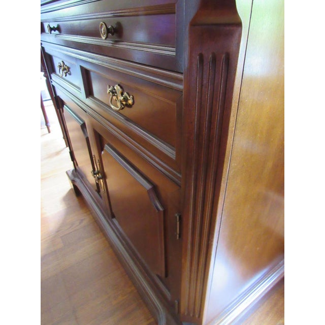 Late 20th Century Vintage Bassett Flip Top Cherry Server Bar Cabinet For Sale - Image 5 of 10