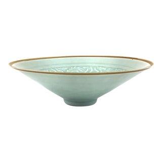 Dragon & Phoenix Chinese Celadon Bowl For Sale