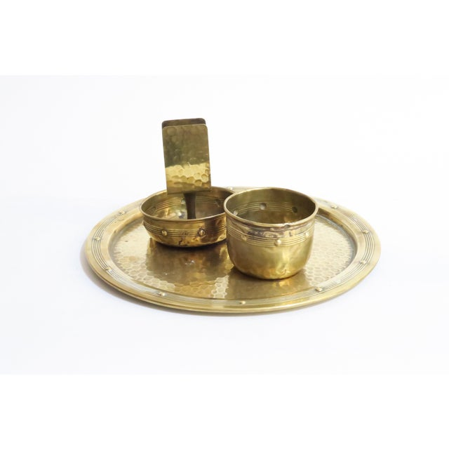 Hammered Brass Serveware - Set of 3 - Image 2 of 4
