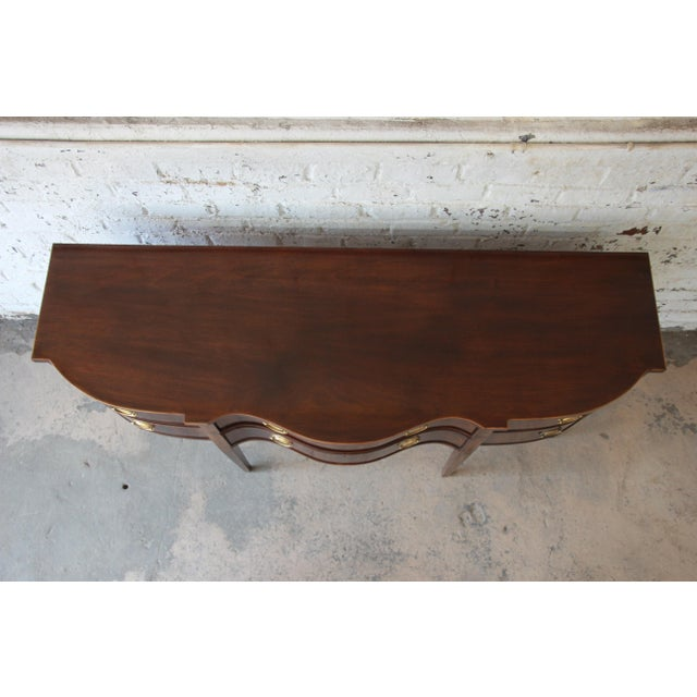 Brass Drexel Heritage Heirlooms Collection Inlaid Mahogany Sideboard For Sale - Image 7 of 11