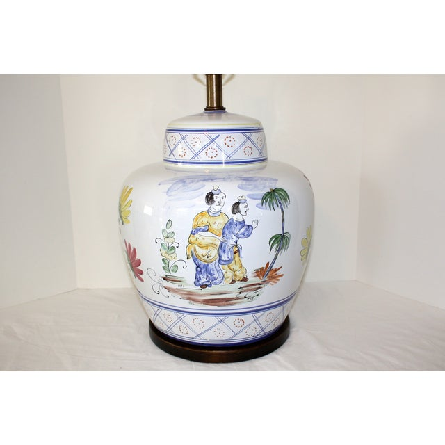 Frederick Cooper Hand-Painted Italian Lamp - Image 4 of 8