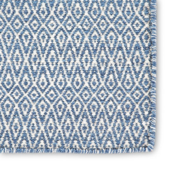 Contemporary Jaipur Living Eulalia Handmade Geometric Blue/ Ivory Area Rug - 2′ × 3′ For Sale - Image 3 of 6