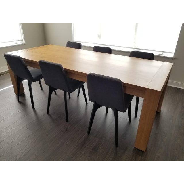 Contemporary Mitchell Gold + Bob Williams Oak Dining Table For Sale In Charlotte - Image 6 of 7