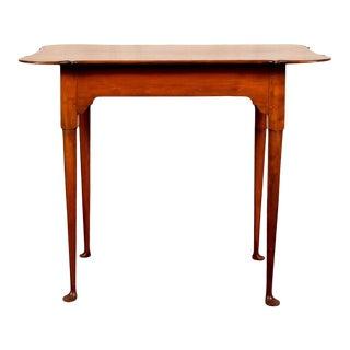 Queen Anne Eldred Wheeler Maple Porringer-Top Tea Table For Sale