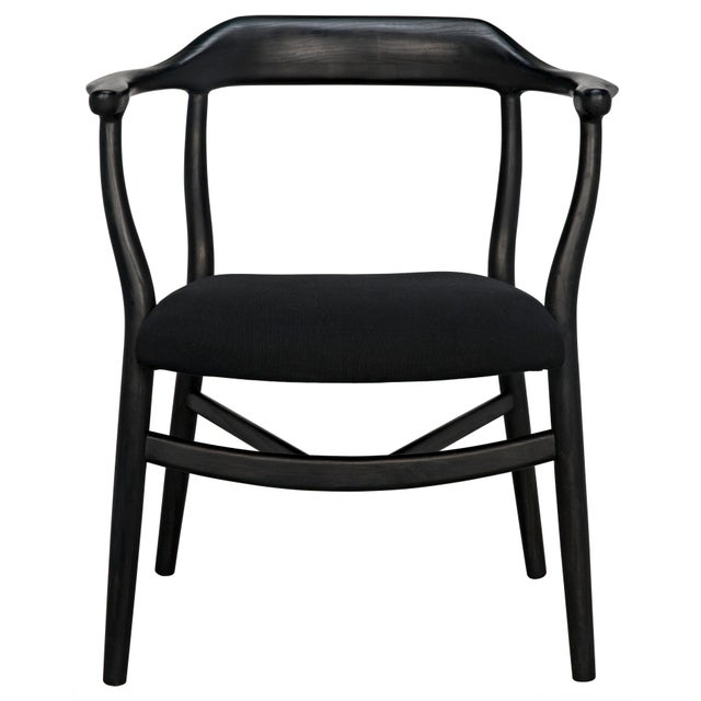 Mid-Century Modern Rey Chair, Charcoal Black For Sale - Image 3 of 7