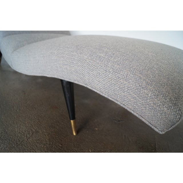 Mid-Century Modern Gray Tweed Daybed or Chaise Lounge For Sale - Image 10 of 11