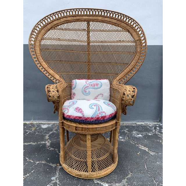 Vintage Wicker Peacock Chair For Sale - Image 9 of 12