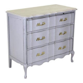 Mid Century Provincial 3-Drawer Commode For Sale